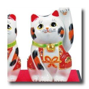 画像3: 九谷焼 3.5号ペア招き猫 盛(化粧箱入)