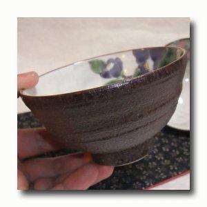 画像5: 九谷焼 組飯碗 椿【青良窯】(化粧箱入)