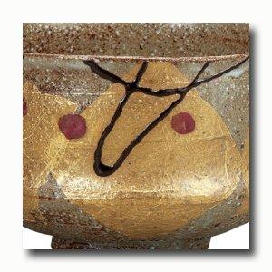 画像4: 九谷焼 抹茶碗 金箔花文【虚空蔵窯】(木箱)