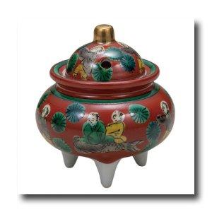 画像1: 九谷焼 3号豆香炉・木米(木箱)